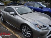 Solid and stately, this 2015 Lexus RC 350 practically