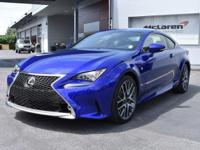 New Arrival! This 2015 Lexus RC 350 L, has a great Deep
