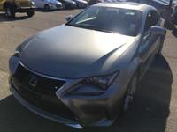 CARFAX One-Owner. Silver 2015 Lexus RC 350 AWD 6-Speed