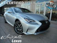 *This Lexus RC 350 AWD F Sport w/ Navigation Has