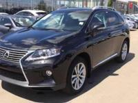2015 Lexus RX 350 and Front Wheel Drive. Black Leather.