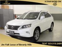 Options:  2015 Lexus Rx 350|White|Navigation-One