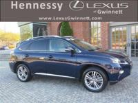 New Price! 2015 Lexus RX 350 in Blue, Tan Cloth.