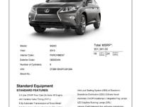 Certified with nav!!Obsidian 2015 Lexus RX 350AWD,