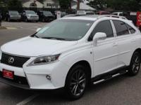 New Price! Wh 2015 Lexus RX 350 Crafted Line WHITE/RED