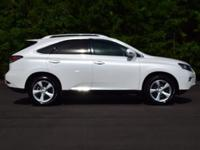 CARFAX One-Owner. Clean CARFAX. White 2015 Lexus RX 350