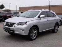 2015 Lexus RX 350. AWD and Light Gray Leather. Fueled
