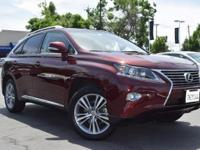 CARFAX One-Owner. Clean CARFAX. RED 2015 Lexus RX 350