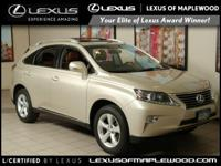 RX 350 trim. REDUCED FROM $38 987! EPA 24 MPG Hwy/18
