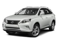 Boasts 28 Highway MPG and 32 City MPG! This Lexus RX