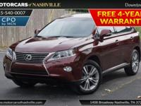 This 2015 Lexus RX 350 4dr features a 3.5L V6 DOHC 24V