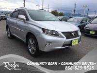 This Silver Lining Metallic 2015 Lexus RX 350 is