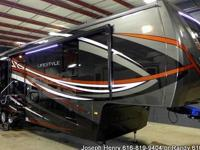 The 2015 Lifestyle 39FB is a triple slide fifth wheel.