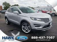 Silver 2015 Lincoln MKC Reserve AWD 6-Speed Automatic