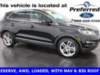 New Price! 2015 Lincoln MKC Reserve, Leather, Gps |