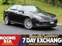 2015 Lincoln MKS Black **SUNROOF/MOONROOF**,