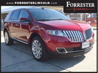 2015 Lincoln MKX, Ruby Red, AWD / 4WD, Navigation,