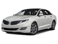 2015 Lincoln MKZ AWD.26/18 Highway/City MPGOnly
