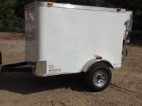4x6 new enclosed trailer ,lightweight. finished inside