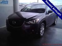 Recent Arrival! 2015 Mazda CX-5 Touring Meteor Gray