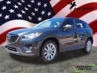 CARFAX One-Owner. Gray 2015 Mazda CX-5 Grand Touring