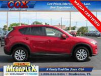 MAZDA CERTIFIED, TOURING PACKAGE, BACKUP CAMERA, and