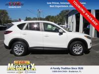 This 2015 Mazda CX-5 Touring in White is well equipped