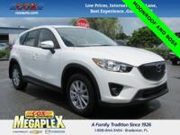 This Certified 2015 Mazda CX-5 Touring in Crystal White