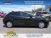 This 2015 Mazda Mazda3 i in Black is well equipped
