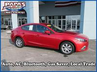 CARFAX One-Owner. Clean CARFAX. Red 2015 Mazda Mazda3 i