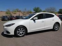 Options:  2015 Mazda Mazda3 I|White|New Price! Carfax