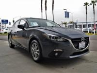 CARFAX One-Owner. Clean CARFAX. Gray 2015 Mazda Mazda3
