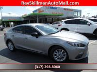 EPA 41 MPG Hwy/30 MPG City! Mazda3 i Touring trim,