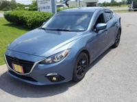 2015 Crystal Blue Mazda Mazda3 i Touring Great