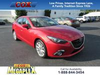 Certified. This 1 OWNER, 2015 Mazda3 s in Soul Red