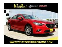 CARFAX One-Owner. Clean CARFAX. Red 2015 Mazda Mazda6 i