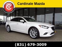 CARFAX One-Owner. Clean CARFAX. White 2015 Mazda Mazda6