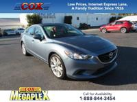 This 2015 Mazda6 i Touring in Blue Reflex Mica is well