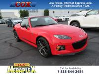 This 1 OWNER,  2015 Mazda Miata Club in True Red is