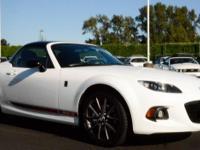 MX-5 Miata Club trim, Crystal White Pearl exterior and