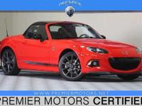 Options:  2015 Mazda Mx-5 Miata Red 2.0L 4 Cyls 2