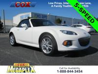 This ONE OWNER, 2015 Mazda Miata Sport in Crystal White
