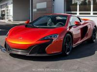 One owner car, sold and serviced at McLaren San