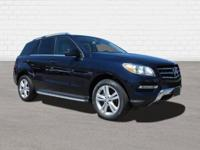 Clean CARFAX. Blue 2015 Mercedes-Benz M-Class ML 350