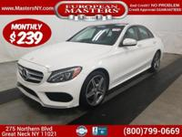 This Fantastic White 2015 Mercedes-Benz C300 4Matic