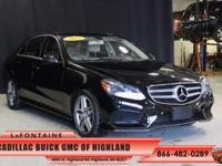 2015 Mercedes-Benz E-Class E350 in Black, Leather, and
