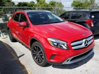 Clean CARFAX.  Red 2015 Mercedes-Benz GLA 250 2.0L I4