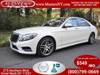 This Amazing White 2015 Mercedes-Benz S550 4Matic Sedan