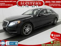 This Lovely Black 2015 Mercedes-Benz S550 4Matic Sedan