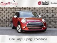 Clean CARFAX. Red 2015 MINI Cooper FWD 6-Speed Manual